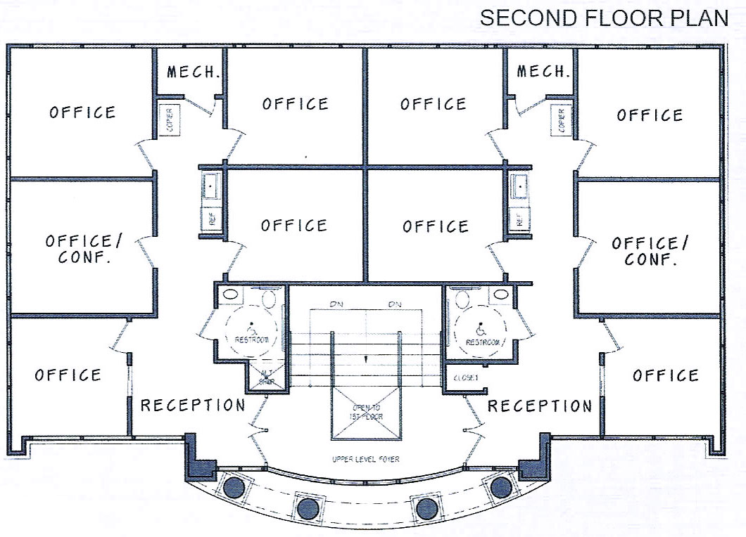 2 Storey Office Building Floor Plan Modern House